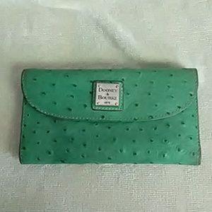Authentic Dooney & Bourke ostrich wallet